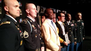 U.S. Army Soldiers, Tyson Tran and Darrell Green